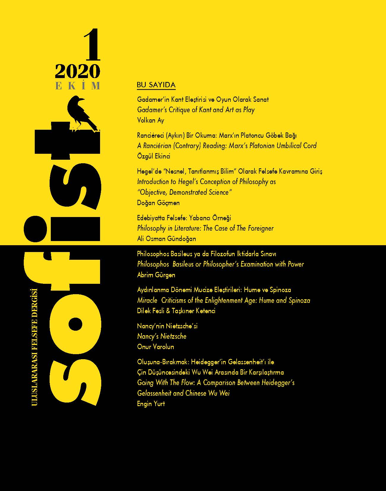 Read more about the article Sofist: 1st Issue
